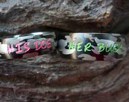 camo wedding ring sets for him and camo wedding rings etsy