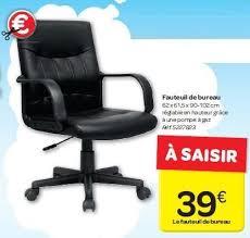 carrefour promotion fauteuil de bureau produit maison