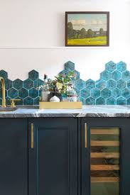 blue kitchen backsplash white cabinets 55 best kitchen backsplash ideas tile designs for kitchen