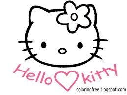 lets coloring book kitty coloring sheets free cute