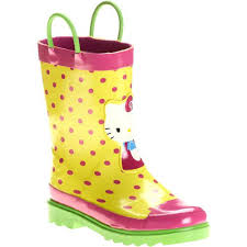 kitty toddler girls rain boots baby clothing
