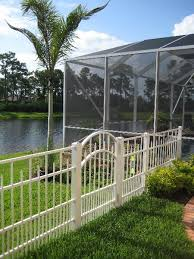 attractive fencing options for waterfront white aluminum fence