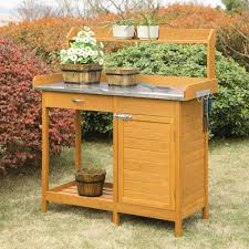 Free Wooden Potting Bench Plans by Potting Bench And Table Ideas House Of Hawthornes