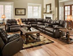 Sectional Reclining Sofas Leather Appealing Leather Sectional Recliner Sofas Design Gradfly Co