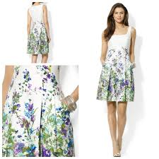 ralph lauren ombre floral print pleated dress http m macys com