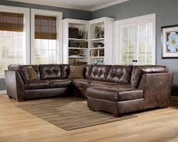 Leather Chaise Lounge Sofa L Black Leather Chaise Lounge Sofa With Back And Brown Cushions
