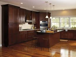 furniture cream colored kitchen cabinets with dark island