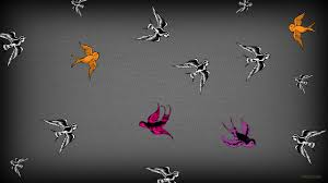 Wallpaper With Birds Gray Pattern Wallpapers Barbaras Hd Wallpapers