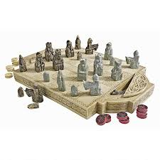 coolest chess sets isle of lewis chess set and board pd0685 design toscano