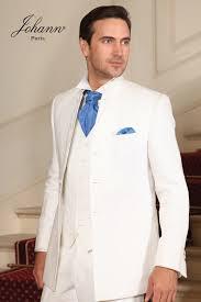 costume mariage blanc johann costume de mariage blanc col mao accessoires bleu