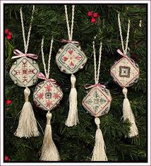 sler biscornuments 5 mini ornaments stitch