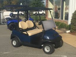 2017 club car precedent gas golf car blue peebles golf cars