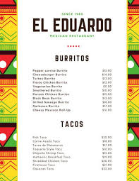 menu templates mexican menu templates canva