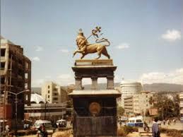 lion of judah statue city orientation walk addis ababa