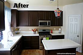 Cost To Paint Kitchen Cabinets How To Refinish Your Kitchen Cabinets Latina Mama Rama