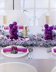 silver christmas table decorations purple and silver christmas