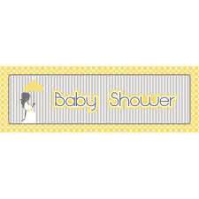 Mod Baby Shower by Mod Baby Shower 60 X 20 Giant Party Banner Case Of 6 Party