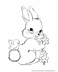 easter bunny coloring pages easter bunny flowers honkingdonkey