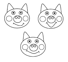 3 little pig templates coloring pages wecoloringpage