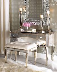 Glass Vanity Table With Mirror Brass And Glass Vanity Table With Drawer And Candle Holders Plus
