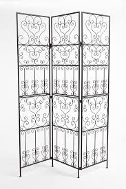2 panel room divider furniture fetching image of decorative black wrought iron room