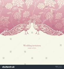 Vintage Wedding Invitation Cards Vintage Wedding Invitation Card Antique Background Stock Vector