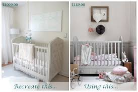 how to create a glamor nursery on a budget