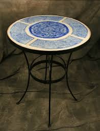 Tile Bistro Table Bistro Tables Made In Usa Unique Glass Tables And Tabletops