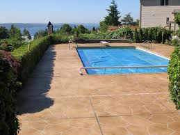 Stamped Concrete Backyard Ideas How To Stain Concrete Hgtv