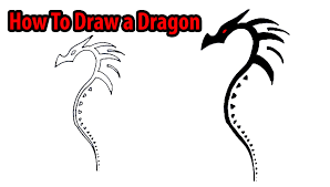 how to draw a dragon youtube