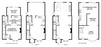ground floor extension plans extend terrace house and redesign ground floor