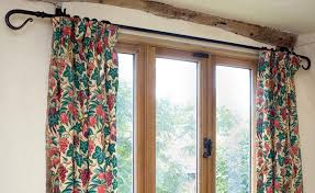 How To Hang A Curtain How To Put Up A Curtain Pole Period Living