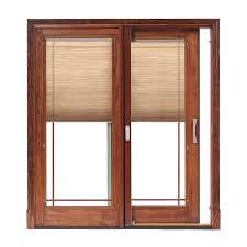 Patio Door Design Designer Series Sliding Patio Doors With Built In Blinds Pella