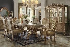 dining room set gold patina