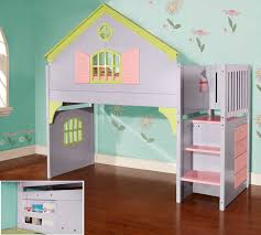 Doll House Furniture Ideas Bedroom Decor Ideas With White Wooden Bunk Bed Built In Ladder