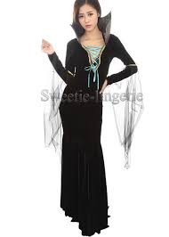 Witch Halloween Costumes Aliexpress Com Buy Female Bat Mermaid Tail Dress Black Witch