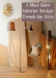 4 interior design trends 2016 thrifty home