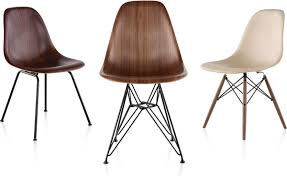 eames molded wood side chair with wire base hivemodern com