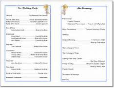 Sample Wedding Programs Templates Wedding Program Template Wedding Program Templates From