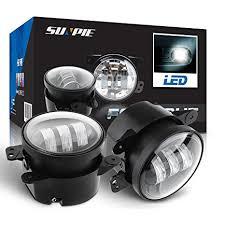 2017 jeep wrangler fog light bulb size amazon com 4 led fog lights for jeep wrangler jk led fog ls