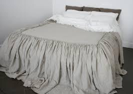 Skirted Coverlet Linen Coverlet Dust Ruffle Linen Bedspread Look As Bed Skirt