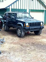 jeep cherokee chief blue 97 u0027 jeep cherokee lifted 2in with 31