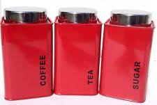 red kitchen canisters red canisters ebay