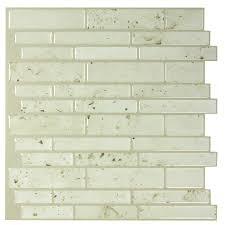 shop peel u0026stick mosaics peel and stick washed stone linear mosaic