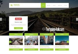responsive travel booking html5 template download