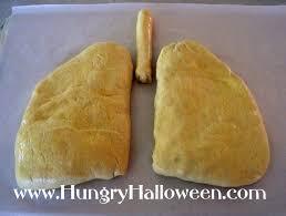 Gross Looking Halloween Food Recipes Halloween Recipe Lung Calzones Madeira Mushroom Filled Pastries