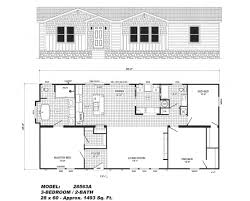 3 bedroom floor plan b 2856 pat hawks homes manufactured