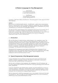 pattern language digital a pattern language for key management pdf download available