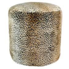 furry pouf ottoman wayfair
