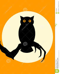 halloween background small halloween spooky owl stock vector image 48026662